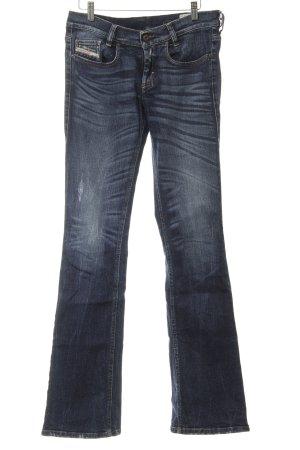 Diesel Industry Stretchhose dunkelblau Jeans-Optik