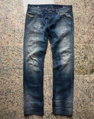 Diesel Industry Jeans a gamba dritta blu