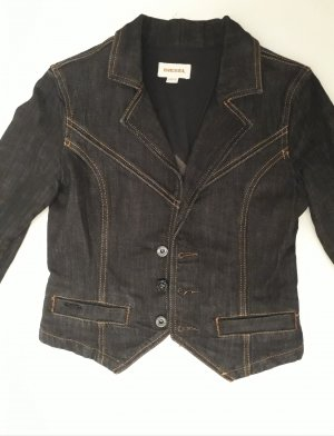 Diesel Denim Blazer dark blue-black cotton