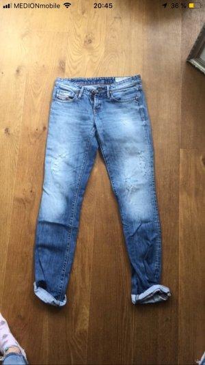 Diesel Pantalon boyfriend bleu clair-bleu