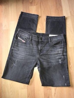 Diesel Jeans stretch gris foncé-gris