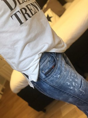 Diesel Jeans Destroyed skinzee low