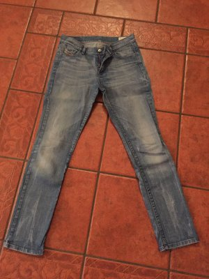 Diesel Jeans taille haute bleu clair