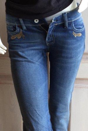 Diesel Jeans Hose blau 26/34 Liv mit Stickerei