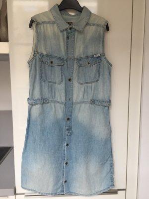 Diesel Robe en jean bleu azur-bleuet coton