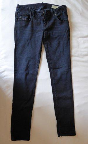 Diesel pantalón de cintura baja azul oscuro