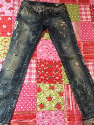 Diesel Straight Leg Jeans multicolored cotton