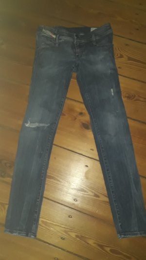 """Diesel Jeans """"Matic"""", Low-Rise, Destroyed-Look"""