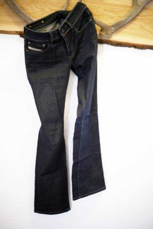 Diesel Jeans mit Lederapplikation