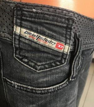 Diesel Jeans mit Lederbund, W27 L30, TOP