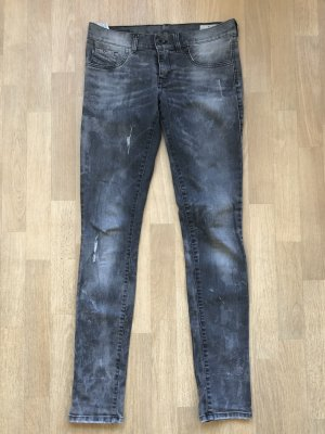 Diesel Jeans ripped grey denim