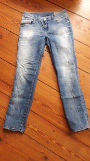 Diesel Pantalone boyfriend azzurro
