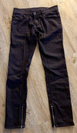 Diesel Jeans vita bassa nero Cotone
