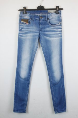 Diesel Jeans Super Slim Skinny Low Waist Gr. 25 light denim | Modell: Grupee 0802p