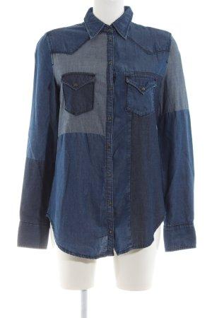 Diesel Jeansbluse blau Casual-Look