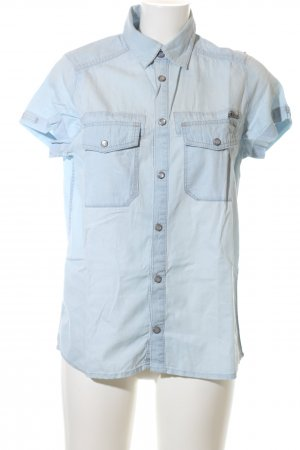 Diesel Camicia denim turchese stile casual