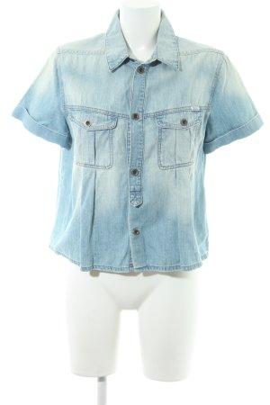 Diesel Denim Shirt azure casual look