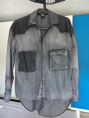 Diesel Camicia denim nero Cotone