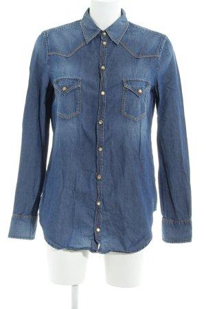 Diesel Denim Shirt steel blue jeans look