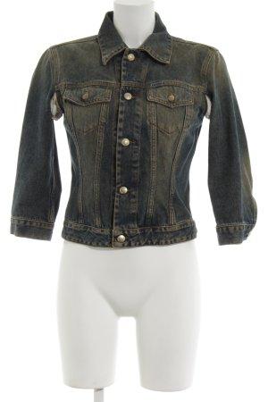 Diesel Denim Jacket blue-khaki casual look