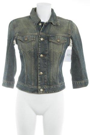 Diesel Jeansjacke blau-hellgrün Farbverlauf Casual-Look