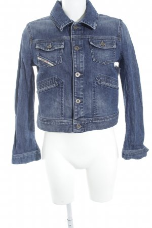 Diesel Jeansjacke blau Washed-Optik