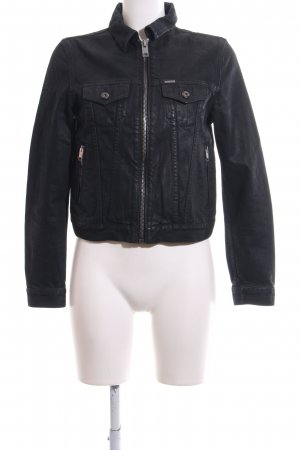 Diesel Jeansjacke schwarz Casual-Look