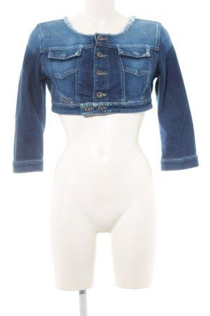 Diesel Veste en jean bleu foncé-bleuet style décontracté