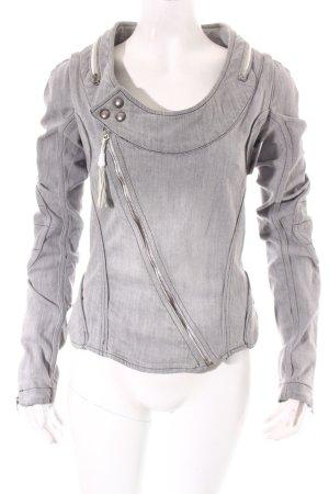 Diesel Jeansjacke grau Street-Fashion-Look