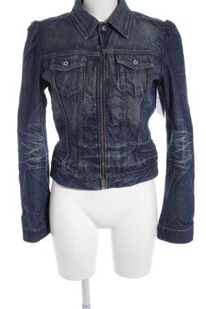 Diesel Jeansjacke weiß-blau meliert Casual-Look