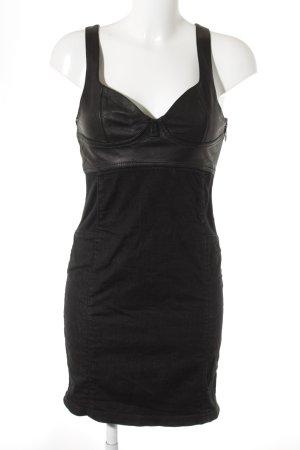 Diesel Jeanskleid schwarz-anthrazit klassischer Stil