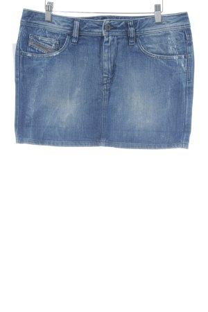 Diesel Jupe en jeans bleu Look de motard