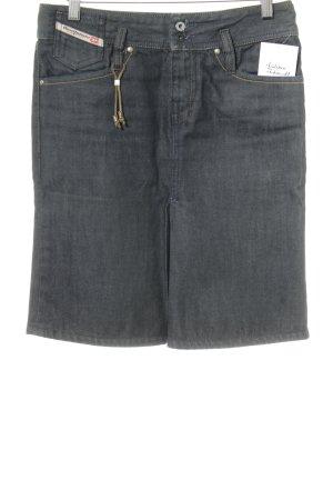 Diesel Jeansrock dunkelblau Jeans-Optik