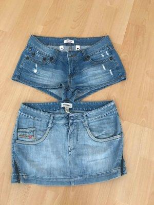 Diesel Jeansrock + kurze Orsay Jeans short