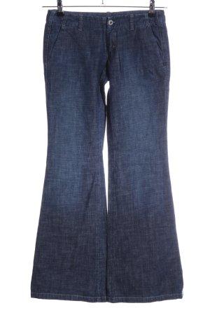 Diesel Jeans a zampa d'elefante blu stile casual