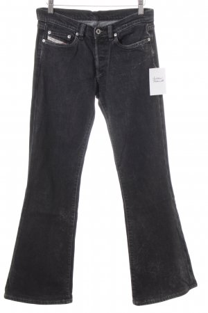 Diesel Jeansschlaghose anthrazit Casual-Look
