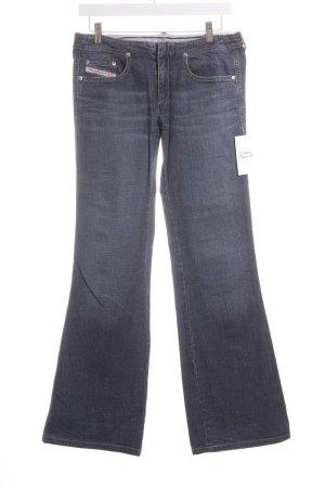 Diesel Jeansschlaghose dunkelblau Hippie-Look