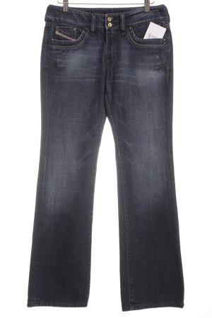 Diesel Jeans flare bleu foncé style mode des rues