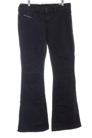 Diesel Jeans a zampa d'elefante nero stile jeans