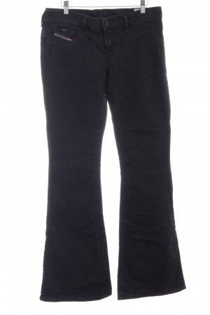 Diesel Jeansschlaghose schwarz Jeans-Optik