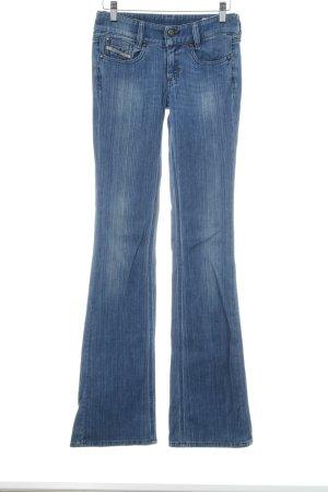 Diesel Jeans a zampa d'elefante blu acciaio stile casual