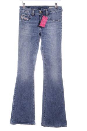 Diesel Jeansschlaghose stahlblau Casual-Look