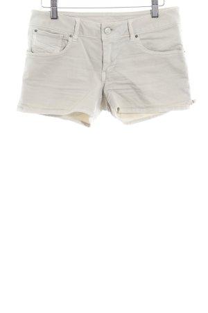 Diesel Jeansshorts hellbeige-silberfarben Jeans-Optik