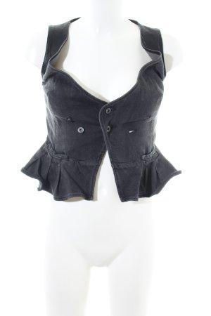 Diesel Denim Vest black casual look
