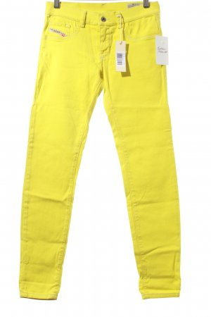 Diesel Jeggings limettengelb Street-Fashion-Look