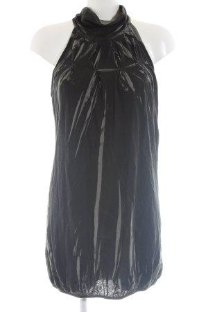 Diesel Vestido de tela de jersey negro-gris claro estampado gráfico elegante