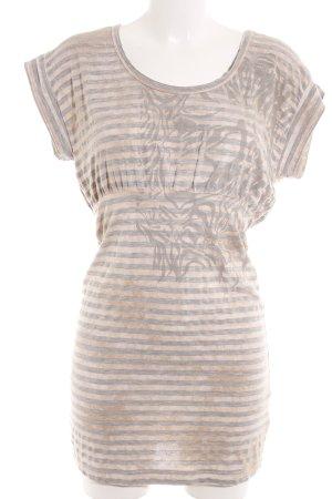 Diesel Jerseykleid nude-silberfarben Motivdruck Casual-Look