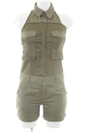Diesel Jumpsuit grüngrau Military-Look