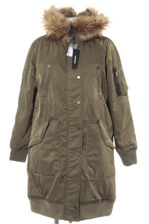 Diesel Manteau à capuche multicolore Garniture en fausse fourrure