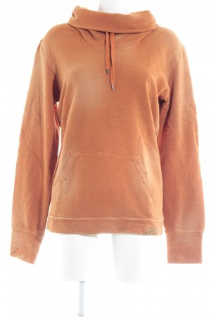 Diesel Hooded Sweater dark orange second hand look